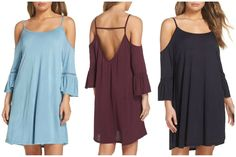 NORDSTROM - LEITH COLD SHOULDER COVER-UP DRESS. Loose and lightweight enough to slip on and off at the beach, this crochet-accented slipdress is also flattering and polished enough for the rest of your afternoon plans. *affiliate