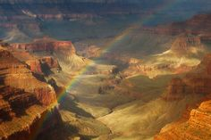 The best part of a storm is the calm afterwards like in this stunning pic of Grand Canyon National Park. This photo was taken from Cape Royal after a morning rain storm as a rainbow cut through the canyon and the light created the illusion that the canyon was under water. With seemingly unlimited vistas to the east and west, Cape Royal is popular for both sunrise and sunset.