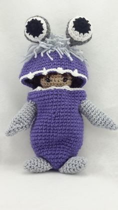Crochet Boo from monsters inc inspired doll от LeftysDesigns