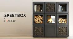 Modular wood stoves: Speetbox by Starck