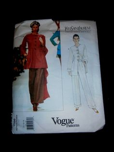 Vogue VPO 1566 Yves Saint Laurent YSL Jacket & Pants 90s Uncut+tag Sz14-16-18 sld 8.49+4.45 3/10/18