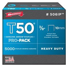 Arrow Fastener 506IP Genuine T50 38Inch Staples 5000Pack ** You can get additional details at the image link.
