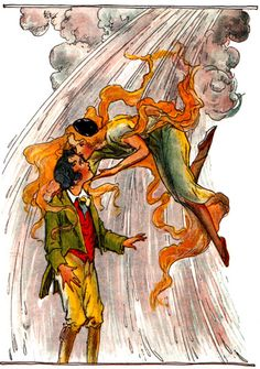 Polychrome and Woot the Wanderer, from The Tin Woodman of Oz.