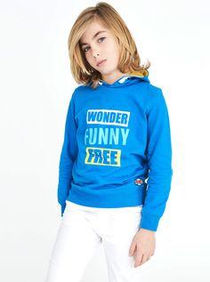Felpa 100% cotone con cappuccio  #kids #fashionkids #piazzaitalia #wearepeople #pinterest #pinit