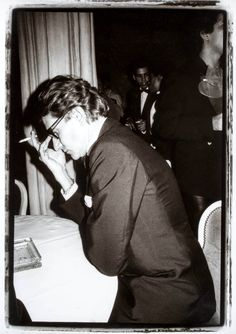 Yves Saint Laurent photographed by Ross Whitaker, 1980s.