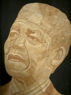 Nelson Mendela  Handmade with dried leaves of rice by museumshop, $129.00. #black history month
