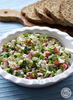 Diet Recipes, Healthy Recipes, Italian Cooking, Cobb Salad, Potato Salad, Food And Drink, Favorite Recipes, Lunch, Breakfast
