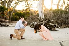 This adorable bride-to-be got the BEST kind of surprise-you know, the kind with a diamond involved- when her soon-to-be-groom popped the question... Under the guise of a photo shoot