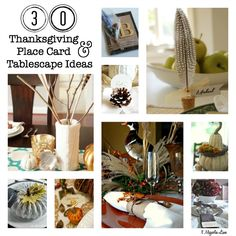 Thirty gorgeous DIY Thanksgiving tablescape and place card ideas for your holiday table setting--elegant and easy!
