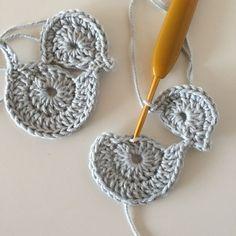 Dragon Knot on Crochet Bolero Pattern, Crochet Applique Patterns Free, Easter Crochet Patterns, Crochet Birds, Crochet Butterfly, Crochet Leaves, Crochet Motifs, Crochet Bunny, Baby Knitting Patterns