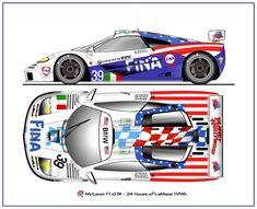 Le Mans, Car Illustration, Illustrations, Mclaren Gtr, Mclaren Mercedes, Ferrari, Sport Cars, Race Cars, Muscle Cars