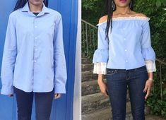 Pin on Stuff to buy « Mode Diy Clothes Refashion, Shirt Refashion, Diy Shirt, Umgestaltete Shirts, Men's Shirts And Tops, Blouse Tutorial, Diy Fashion, Fashion Outfits, Make Your Own Clothes