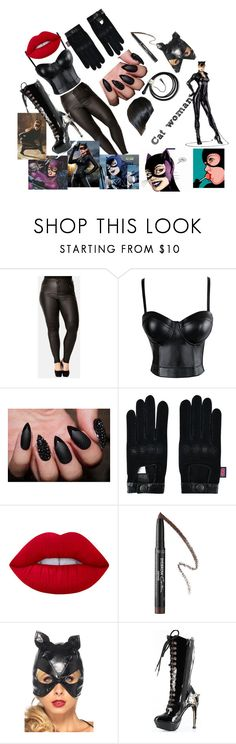 """""""cat woman"""" by lovefashionforeal ❤ liked on Polyvore featuring City Chic, Belstaff, Lime Crime, Givenchy, Burton, Makebelieve and HADES"""