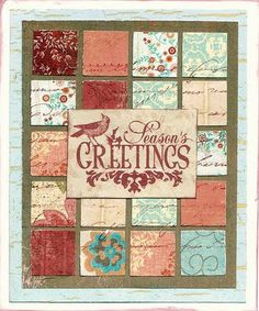A Christmas Grid Card