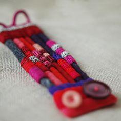 Textile bracelet by Maria - kjoo