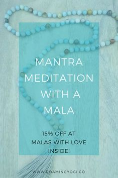 Mantra meditation is an engaging and accessible form of meditation; making it ideal for beginners. Utilizing a mala makes it even more accessible!