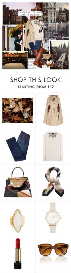 """""Autumn...the year's last, loveliest smile."" ― William Cullen Bryant"" by azomyr20 ❤ liked on Polyvore featuring Diane Von Furstenberg, 7 For All Mankind, Burberry, Fendi, HEATHER BENJAMIN, Olivia Burton, Lancôme and Emmanuelle Khanh"