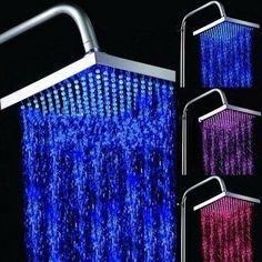 Hot Water-Saving Colorful LED With Light-Emitting Rain Shower Heads Bathroom MTC