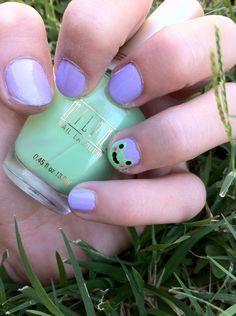 How to Paint Cute Frog Nails - @Emily Ricciardo