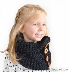 Boy Girl Unisex Neck Warmer wool cowl with by daisiescrochet, $30.00