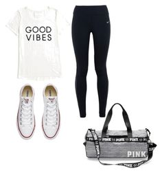 A fashion look from September 2016 featuring tommy hilfiger t shirt, stretch pants and canvas shoes. Browse and shop related looks. Tommy Hilfiger T Shirt, Stretch Pants, Gym Time, Converse, Fashion Looks, Nike, Polyvore, Shirts, Shopping
