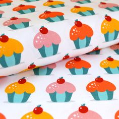 Cotton fabric - Muffins - Cotton fabric for children / Digitally printed cotton fabric / Cotton fabric Printed Cotton, Cotton Fabric, Prints, Cotton Textile