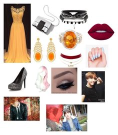 """""""Hoseok's prom date"""" by skylerlasiter on Polyvore featuring Alexandra Alberta, Charlotte Russe and Lime Crime"""