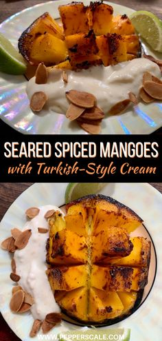 Magic happens sometimes. Especially when spicy flavors, bold colors, varied textures, and thoughtful simplicity combine to create amazement. Add searing heat to the spiced mangoes and chilling cold to the cream, and the alchemy's complete. #spicedmangoes #mango #turkishcream Chipotle Recipes, Spicy Vegetarian Recipes, Mango Recipes, Vegetarian Appetizers, Vegetable Recipes, Baked Beans, Stuffed Hot Peppers, Alchemy, Chilling