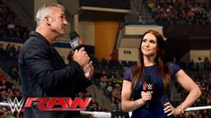 Stephanie McMahon interrupts her brother: Raw, April 25, 2016. https://www.youtube.com/watch?v=Eyhl_3Scilg