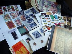 Lot 200 Plus Vintage Book Pages Collages Arts Crafts Ephemera Maps #125 Wide Varieties Collage Supplies