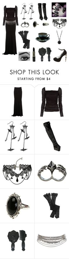 """""""Elegant Seduction"""" by southerngoth ❤ liked on Polyvore featuring Zuhair Murad, Dsquared2, Rick Owens Lilies, Manic Panic NYC, Hot Topic, KD2024, Aerie, Anna Sui, Pieces and 1928"""
