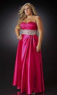 Vestidos para madrinas gorditas: Los mejores diseños - Vestido en color rosa eléctrico para madrinas gorditas