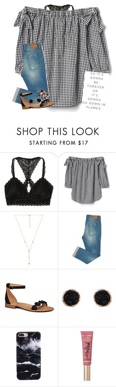 """When is yalls spring break, we get out Friday!"" by erinleigh02 ❤ liked on Polyvore featuring Hollister Co., Child Of Wild, Jack Rogers, Humble Chic, Too Faced Cosmetics and BillyTheTree"