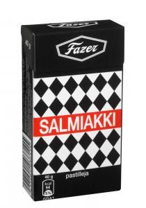 Salmiakki from Fazer, Finland. Only the best salty licorice in the world. Goa, British Sweets, Finnish Words, Liquorice Allsorts, Fish And Meat, Tropical Fruits, Chocolate Truffles, Hard Candy, Baileys