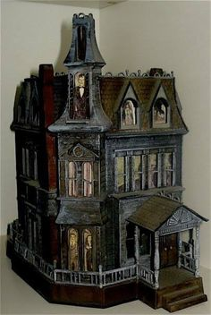 The Addams Family house Halloween decoration.