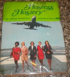 NIP  Vintage Stewardess Hosiery by ThrillOfTheHunt on Etsy, $10.00