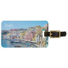 Shop Italy Luggage Tag created by stdjura. Souvenirs From Italy, Custom Luggage Tags, Mediterranean Sea, Naples, Europe, Island, Vacation, Photography, Gender