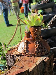 Succulent terracotta hobbit house. Perth, The Hobbit, Plant Hanger, Terracotta, Succulents, Garden, Plants, House, Home Decor