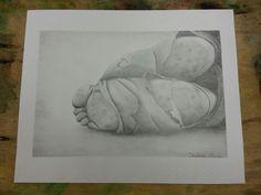 Homelessness awareness pencil drawing