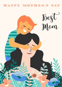 and baby cartoon Happy Mothers Day. Vector illustration with woman and child. Design element for . Vector illustration with woman and child. Design element for card, poster, banner, and other use. Tag Design, Baby Boy Cards, New Baby Boys, Baby Baby, Banner, Birthday Gifts For Boys, Baby Girl Crochet, Baby Cartoon, Cartoon Family