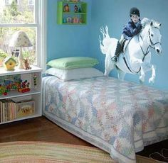 Bright, Modern Teen Appropriate Horse Themed Bedroom. | Girls Bedroom |  Pinterest |