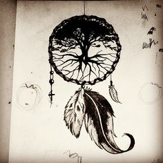 63 Ideas Tattoo Tree Of Life Dreamcatcher - Popular Tinker 2019 Tattoo Life, Atrapasueños Tattoo, Tree Of Life Tattoos, Dream Catcher Drawing, Dream Catcher Tattoo, Dream Catchers, Future Tattoos, New Tattoos, Body Art Tattoos