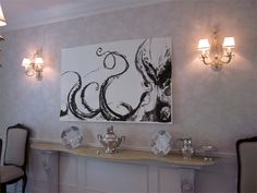 new painting for living room...idea...I'm doing this...Inslee - Large Octopus Painting I