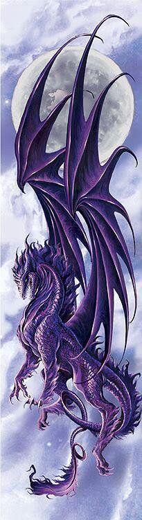Majestic purple dragon, landing