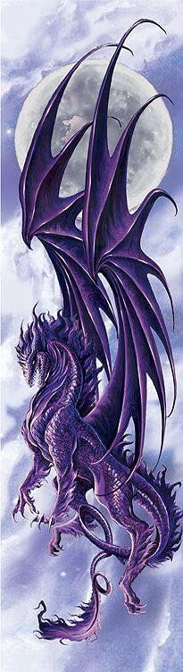 Majestic purple dragon, landing