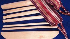 "12"" Handcarved Backstrap Loom, Wood, Backstrap Weaving Belt Included,  Fair Trade"