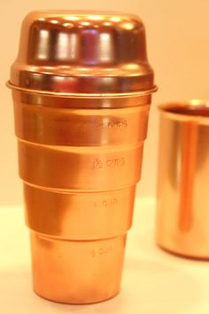 Vintage copper cocktail shaker