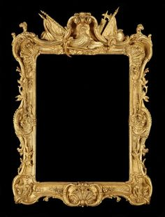 A GEORGE III GILTWOOD ROYAL PICTURE FRAME, c. 1765 England