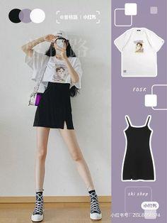 Korean Girl Fashion, Korean Fashion Trends, Ulzzang Fashion, Korean Street Fashion, Kpop Fashion Outfits, Girls Fashion Clothes, 70s Fashion, Modest Fashion, Fashion Tips