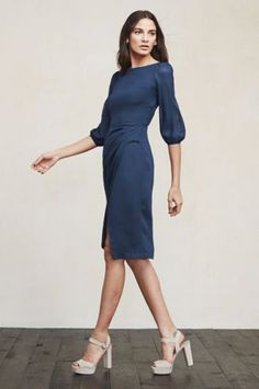 Easy Work Dresses For Rushed Mornings Reformation Natalia Dress, $228, available at Reformation.